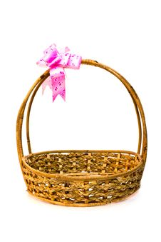 Free An Empty Basket On White Royalty Free Stock Photos - 21938278