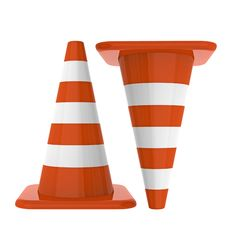 Free 3d Traffic Cones Royalty Free Stock Photography - 21939007