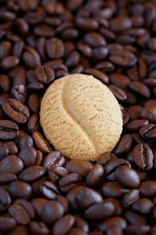Free Coffee Bean Cookie Royalty Free Stock Photo - 21939685