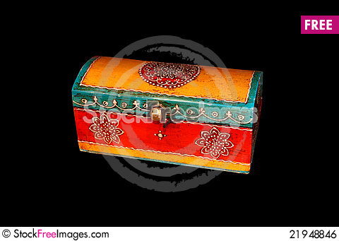 Free Traditional Eastern Culture Wooden Box Royalty Free Stock Image - 21948846