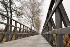 Free Wooden Pathway Straight Forward Royalty Free Stock Photography - 21942567