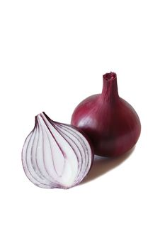 Free Red Sweet Onion  On A White Royalty Free Stock Image - 21943256