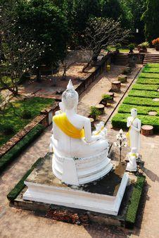 Free Wat Yai Chai Mongkol (Mongkhon) In Ayutthaya. Stock Photos - 21943493