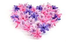 Free Pink Flowers In A Shape Of A Heart Stock Image - 21945041