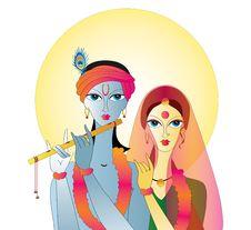 Free Radha Krishna  Abstract Royalty Free Stock Images - 21945829