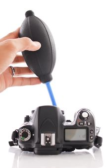 Free Cleaning A Camera Royalty Free Stock Photos - 21946828