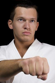 Free Portrait Of Karate Man Royalty Free Stock Image - 21950266