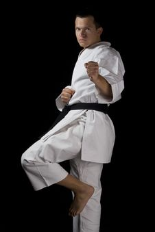 Free Karate Young Fighter Stock Image - 21950301