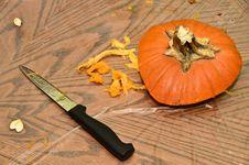 Free Pumpkin Carving Stock Photo - 21950450