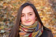 Free Portrait Of Beautiful Young Teenage Girl Stock Photography - 21953482