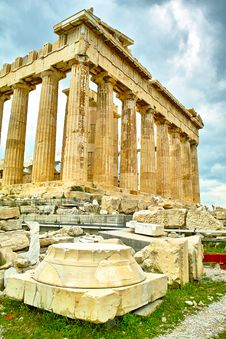 Free Acropolis Temple In Athens Royalty Free Stock Photography - 21958327