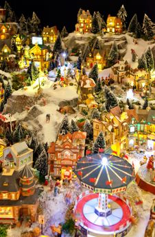 Free Winter Toy Village Royalty Free Stock Photography - 21958497