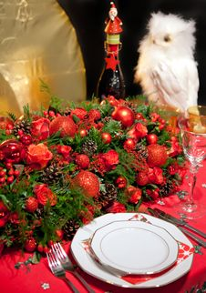 Free Christmas Decoration On Table Royalty Free Stock Photo - 21958765