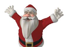 Free Santa Has Somrthing Exciting To Say! Royalty Free Stock Images - 21959589