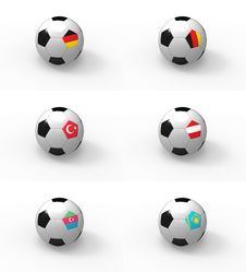 Free Euro 2012, Soccer Ball With Flag - Group A Stock Photo - 21961920