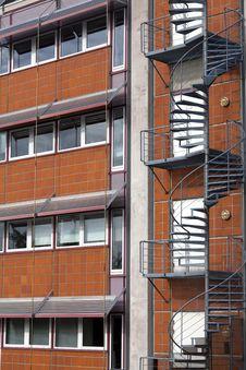 Free External Metallic Staircase Stock Image - 21962741