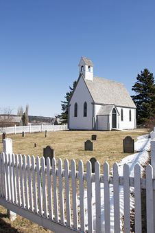 White Wooden Church - New Brunswick Stock Image