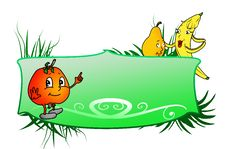 Free Banner With Fruit Royalty Free Stock Image - 21968616