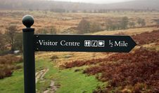 Visitor Centre Sign Post Royalty Free Stock Images