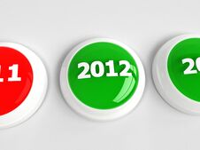 Free 2012 Push Button Stock Image - 21969301