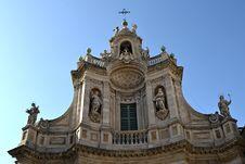 Free Resplendent Baroque Church, Catania Royalty Free Stock Images - 21972999