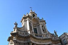 Free Resplendent Baroque Church, Catania Royalty Free Stock Photos - 21973178