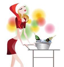 Free Waitress Glamorous Royalty Free Stock Image - 21975076