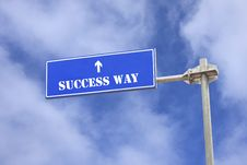 Success Topic Sign Post Against Blue Sky Royalty Free Stock Images