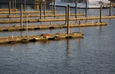 Empty Moorage Slips Royalty Free Stock Photo