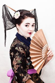 Free Geisha Royalty Free Stock Photos - 21979498