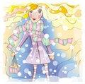 Free Winter Girl Stock Image - 21983261