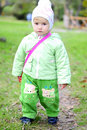 Free Small Girl Walks On Autumn Stock Photo - 21984930