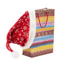 Free Gift Bag And A Hat Christmas Royalty Free Stock Photography - 21987807
