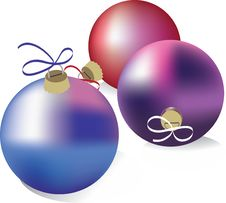 Free Christmas Balls Royalty Free Stock Photo - 21981505