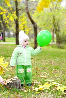 Free Small Beautiful Girl In Green Suit Stock Images - 21984464