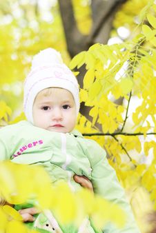 Free Small Beautiful Girl In Green Suit Royalty Free Stock Photography - 21984657