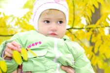 Free Small Beautiful Girl In Green Suit Royalty Free Stock Photography - 21984667