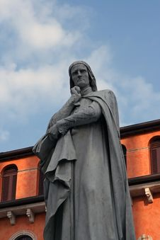Dante Statue Stock Photos