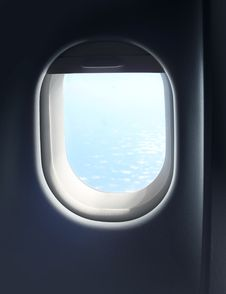Jet Plane Cabin Window Royalty Free Stock Images