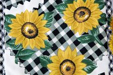 Sunflowers Kitchen Mitt Stock Photo