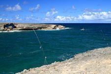 Free Fishing Laie Point, Oahu, Hawaii Stock Images - 21986914
