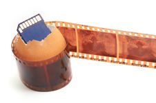 Free Sd Memory Card,egg-shell And Film Royalty Free Stock Image - 21987136