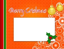 Free Christmas Card Royalty Free Stock Photos - 21987178