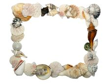 Free Frame Made Of Shells Stock Photo - 21988960