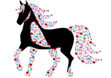 Free Floral Horse Royalty Free Stock Images - 21988969