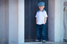 Little Stylish Boy Stock Images