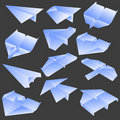 Free Paper Plane Collection Royalty Free Stock Photos - 21997708