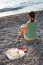 Free The Girl, Hat And Flip-flops On The Stones Stock Images - 21999154