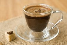 Free Cup Of Coffee, Sugar, Coffee Beans Stock Photos - 21991493