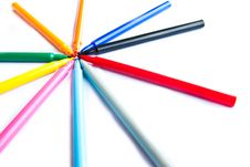 Free Colorful Markers Pens Stock Photo - 21993060